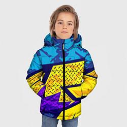 Куртка зимняя для мальчика Bona Fide Одежда для фитнеса цвета 3D-черный — фото 2