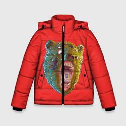Куртка зимняя для мальчика Little Big: Bear цвета 3D-черный — фото 1