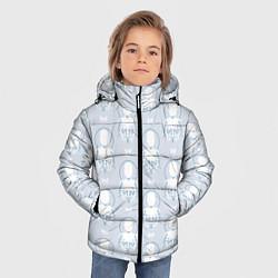 Куртка зимняя для мальчика Android Pattern цвета 3D-черный — фото 2