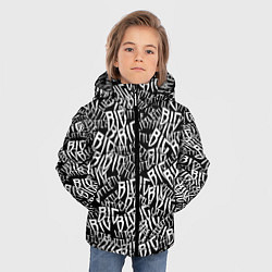 Куртка зимняя для мальчика Little Big цвета 3D-черный — фото 2