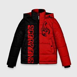 Детская зимняя куртка для мальчика с принтом SCORPIONS, цвет: 3D-черный, артикул: 10212831306063 — фото 1