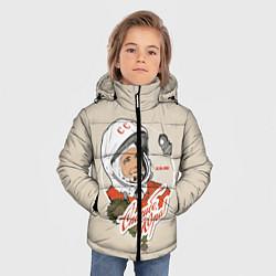 Куртка зимняя для мальчика Спасибо, Юра! цвета 3D-черный — фото 2