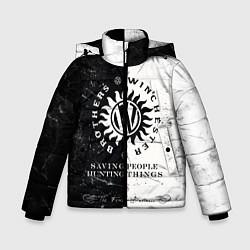 Куртка зимняя для мальчика Winchester Brothers цвета 3D-черный — фото 1