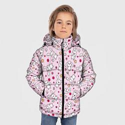 Куртка зимняя для мальчика Зайчики цвета 3D-черный — фото 2