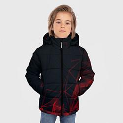 Куртка зимняя для мальчика RED STRIPES цвета 3D-черный — фото 2