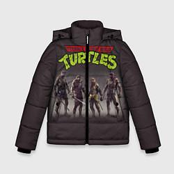 Куртка зимняя для мальчика Черепашки-ниндзя цвета 3D-черный — фото 1
