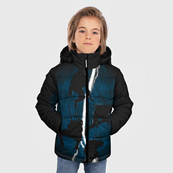 Куртка зимняя для мальчика Ночные черепашки-ниндзя цвета 3D-черный — фото 2