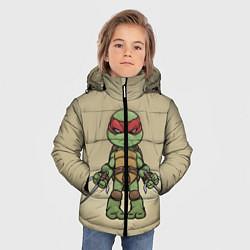 Куртка зимняя для мальчика Маленький Рафаэль цвета 3D-черный — фото 2