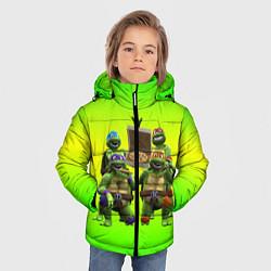 Куртка зимняя для мальчика ЧЕРЕПАШКИ - НИНДЗЯ цвета 3D-черный — фото 2