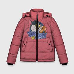 Куртка зимняя для мальчика Tom and Jerry - friends цвета 3D-черный — фото 1