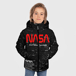 Куртка зимняя для мальчика NASA цвета 3D-черный — фото 2