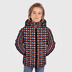 Детская зимняя куртка для мальчика с принтом Pacman, цвет: 3D-черный, артикул: 10221375506063 — фото 2