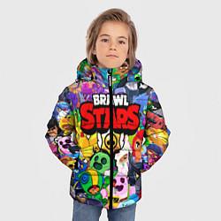 Куртка зимняя для мальчика BRAWL STARS ВСЕ БРАВЛЕРЫ цвета 3D-черный — фото 2