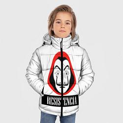 Куртка зимняя для мальчика Resistenicia цвета 3D-черный — фото 2