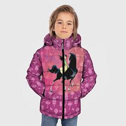 Куртка зимняя для мальчика Мулан цвета 3D-черный — фото 2