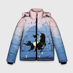 Куртка зимняя для мальчика Mulan in the mountains цвета 3D-черный — фото 1