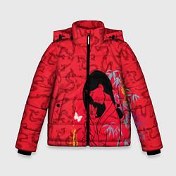 Куртка зимняя для мальчика Mulan on Mushu Patten цвета 3D-черный — фото 1