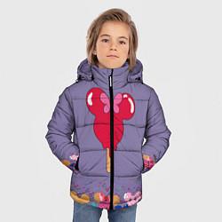 Детская зимняя куртка для мальчика с принтом Минни Маус Мороженое, цвет: 3D-черный, артикул: 10250068306063 — фото 2