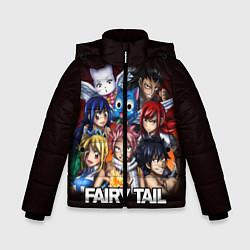 Куртка зимняя для мальчика FAIRY TAIL ХВОСТ ФЕИ цвета 3D-черный — фото 1