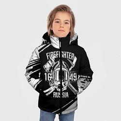 Куртка зимняя для мальчика FIREFIGHTER 1649 RUSSIA цвета 3D-черный — фото 2