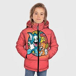 Куртка зимняя для мальчика BESTIES FOREVER цвета 3D-черный — фото 2