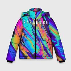 Куртка зимняя для мальчика PARAMORE цвета 3D-черный — фото 1