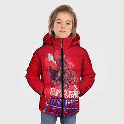 Куртка зимняя для мальчика Justice League цвета 3D-черный — фото 2