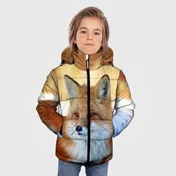 Куртка зимняя для мальчика Лиса цвета 3D-черный — фото 2