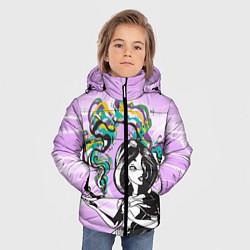 Куртка зимняя для мальчика Жасмин с лампой цвета 3D-черный — фото 2