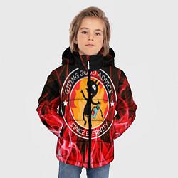 Куртка зимняя для мальчика FIRE цвета 3D-черный — фото 2