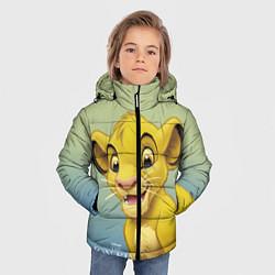 Куртка зимняя для мальчика Юный Симба цвета 3D-черный — фото 2