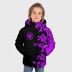 Куртка зимняя для мальчика ПРОКЛЯТАЯ ПЕЧАТЬ САСКЕ цвета 3D-черный — фото 2