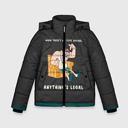 Куртка зимняя для мальчика Стенли Пайнс цвета 3D-черный — фото 1