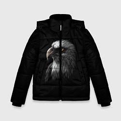 Детская зимняя куртка для мальчика с принтом Орлан, цвет: 3D-черный, артикул: 10275111506063 — фото 1