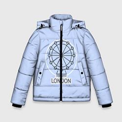 Куртка зимняя для мальчика Лондон London Eye цвета 3D-черный — фото 1