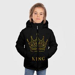Куртка зимняя для мальчика KING цвета 3D-черный — фото 2