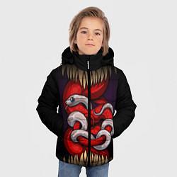 Куртка зимняя для мальчика Monster and snake цвета 3D-черный — фото 2
