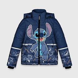 Куртка зимняя для мальчика Стич цвета 3D-черный — фото 1
