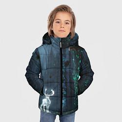 Куртка зимняя для мальчика Олень цвета 3D-черный — фото 2