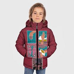 Куртка зимняя для мальчика SLAVA MARLOW Снова я напиваюсь цвета 3D-черный — фото 2