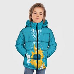 Куртка зимняя для мальчика Зайчики и печенье цвета 3D-черный — фото 2