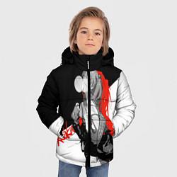 Куртка зимняя для мальчика Asuka Langley Evangelion цвета 3D-черный — фото 2