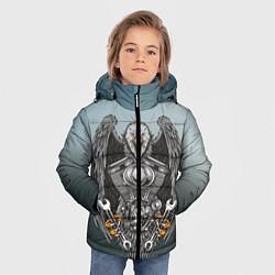 Детская зимняя куртка для мальчика с принтом Master, цвет: 3D-черный, артикул: 10278347906063 — фото 2