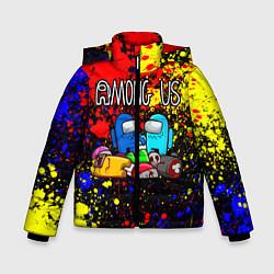 Куртка зимняя для мальчика AMONG US цвета 3D-черный — фото 1