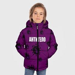 Куртка зимняя для мальчика АНТИТЕЛО цвета 3D-черный — фото 2