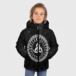 Куртка зимняя для мальчика Рог Одина цвета 3D-черный — фото 2