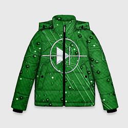 Куртка зимняя для мальчика Печатная плата и диод цвета 3D-черный — фото 1
