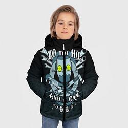 Куртка зимняя для мальчика Йохохо и канистра масла цвета 3D-черный — фото 2