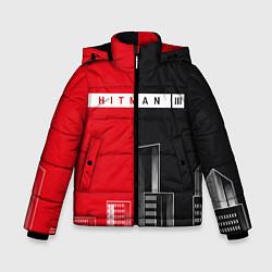 Куртка зимняя для мальчика Hitman III - Город цвета 3D-черный — фото 1