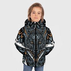 Куртка зимняя для мальчика Рисунок лиса цвета 3D-черный — фото 2